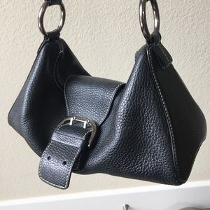 tod's leather buckle purse